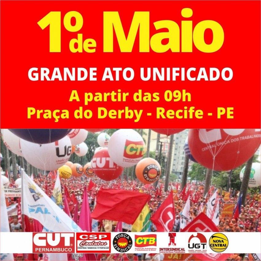 c216df840 Centrais sindicais se mobilizam em torno de um 1º de Maio unificado rumo à greve  geral